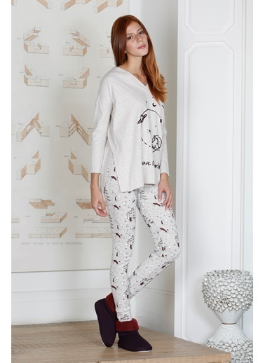 Hays Save Kadın Penye Taytlı Pijama Takımı Bordo